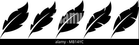 Feather vector icons - Stock Photo