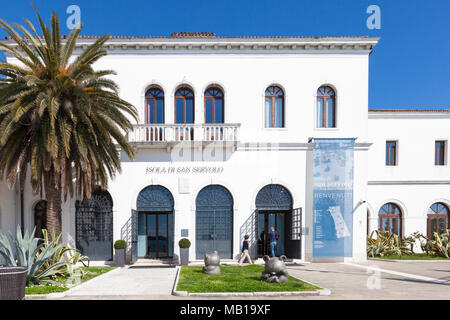 San Servolo Island, (Isola di San Servolo, Island of the Mad)  Venice, Veneto, Italy housing the Venice International University and the Insane Asylum - Stock Photo