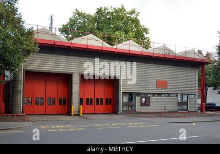 North Kensington fire station Ladbroke grove. London. Grenfell Tower - Stock Photo