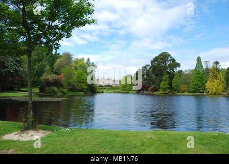 Sheffiel Park House and  Lake - Stock Photo