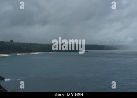 Secret Beach near Kilauea Point on Kauai, Hawaii, after a major rainstorm - Stock Photo
