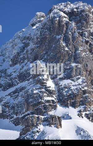 Sun shining on the peaks of Courchevel, France - Stock Photo