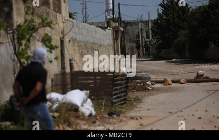 Nablus, West Bank, Palestinian Territory. 6th Apr, 2018. - Stock Photo
