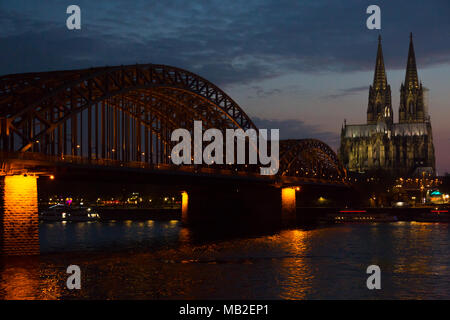 Cologne Cathedral, a popular tourist destination in Germany - Stock Photo