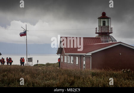 Lighthouse, Cape Horn, Tierra de Fuego, Patagonia, Chile - Stock Photo