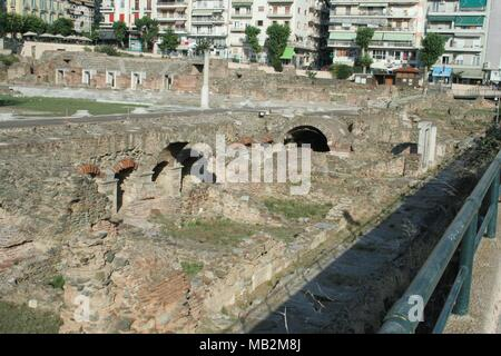 This is a historic marketplace in Thessalonica along the ...