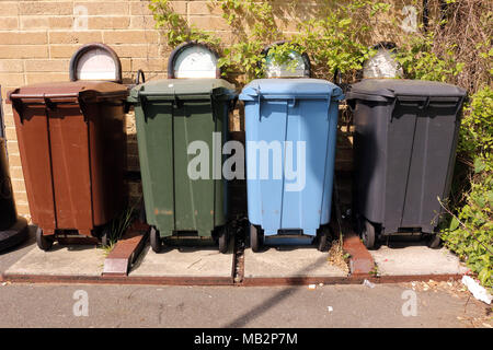 Recycling Bins - Stock Photo
