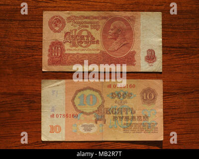 Russian Ruble Banknotes Money Rub Currency Of Soviet Union With