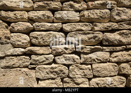 part of a stone wall, for background or texture - Stock Photo