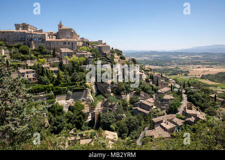 Medieval hilltop town of Gordes. Provence. France. - Stock Photo