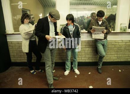 Brighton Races 1985. - Stock Photo