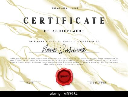Stylish Certificate Of Appreciation Award Design Template With Stock