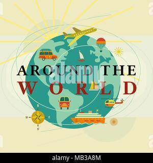Around the world concept - Stock Photo