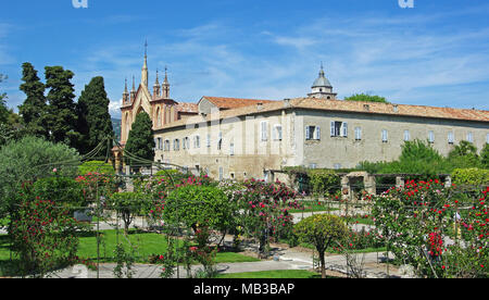 Nice (south eastern France, French Riviera): Franciscan Monastery of Cimiez. The building is classified as a French National Historic Landmark monumen - Stock Photo
