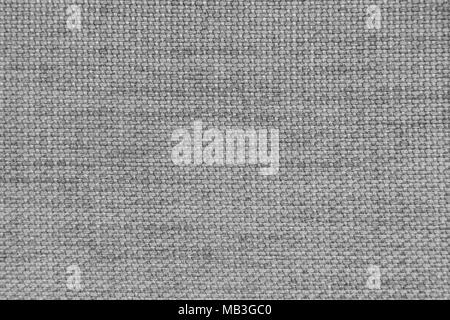 Close-up of a furniture fabric texture, abstract background in black and white - Stock Photo
