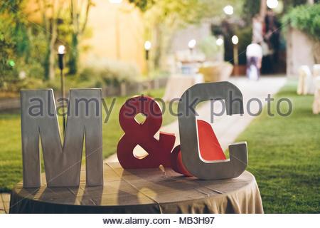 wedding letters - Stock Photo