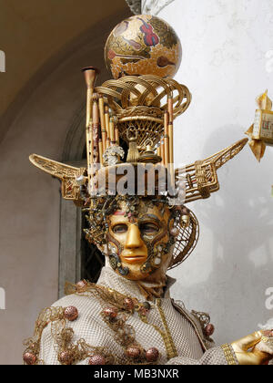 Man in mask at Carnival, Venice, Italy - Stock Photo