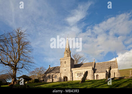St. Michael and All Angels' Church in the Dorset village of Littlebredy. - Stock Photo