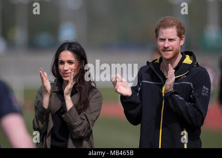Meghan Markle and Prince Harry Attend the Invictus Games U.K. Team Trials