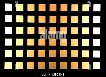 Yellow-orange light square pattern - Stock Photo