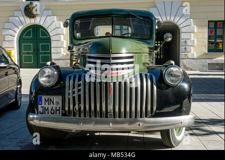 Oldtimer CHEVROLET 3100 Pickup Truck, construction year 1946, Bavaria, Germany - Stock Photo