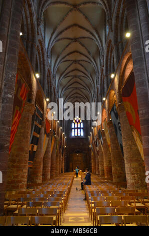 Ancient Saint Magnus cathedral in Kirkwall, Orkney archipelago, Scotland - Stock Photo