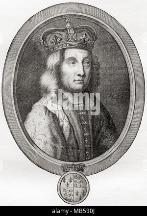 Edward IV, 1442 – 1483.  King of England.  From The International Library of Famous Literature, published c. 1900 - Stock Photo
