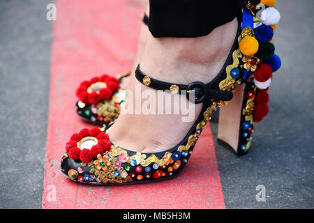 High heels shows - Fashion Week of Paris - Ready to Wear FW 18/19 - Paris - France - Stock Photo
