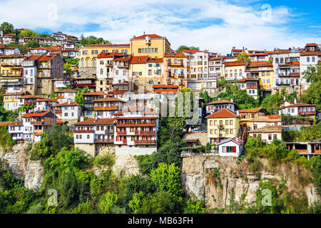 Facades in Veliko Tarnovo (Bulgaria) Stock Photo