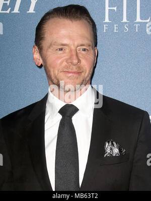 Feb 15, 2018  - Simon Pegg attending Newport Beach Film Festival UK Honours 2018, The Rosewood Hotel in London, England, UK - Stock Photo