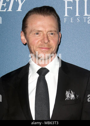 Feb 15, 2018  - Simon Pegg attending Newport Beach Film Festival UK Honours 2018, The Rosewood Hotel in London, England, UK - Stock Photo