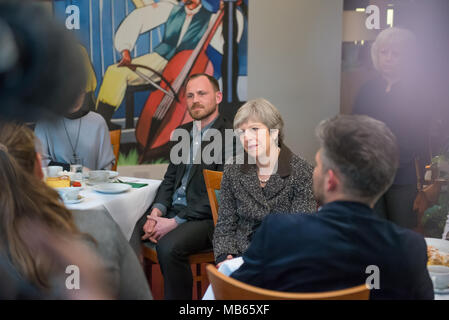 London, UK. 29th March 2018. Theresa May meeting with Polish community in London, UK. Credit: Marcin Urban/Alamy Live News. - Stock Photo