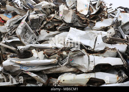 Cars for scrap - Stock Photo
