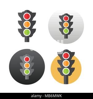 Traffic light icon - Stock Photo