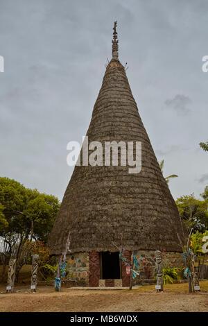 Mwaka Cultural Centre, Jean-Marie Tjibaou Cultural Centre in Noumea, New Caledonia Stock Photo