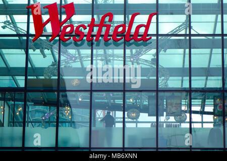Westfield Stratford City, shopping centre, London, United Kingdom, UK - Stock Photo