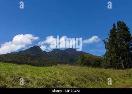Panama's highest volcano, Volcan Baru, near Boquete, Panama on a clear day - Stock Photo