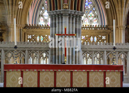 exeter cathedral - Stock Photo