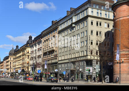 Vasagatan, major street in central Stockholm named after King Gustav Vasa - Stock Photo