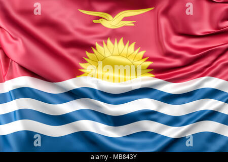 Flag of Kiribati - Stock Photo