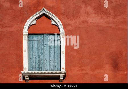 Venetian style window and background - Stock Photo