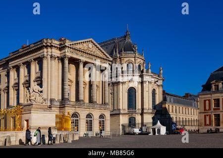 Chateau de Versailles (Palace of Versailles), a UNESCO World Heritage Site, France - Stock Photo
