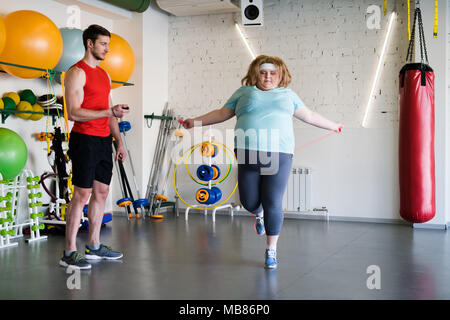 obese woman in fitness club stock photo 179045815  alamy