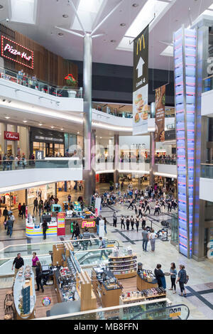 Interior atrium of WestQuay Shopping Centre, Southampton, Hampshire, England, United Kingdom - Stock Photo