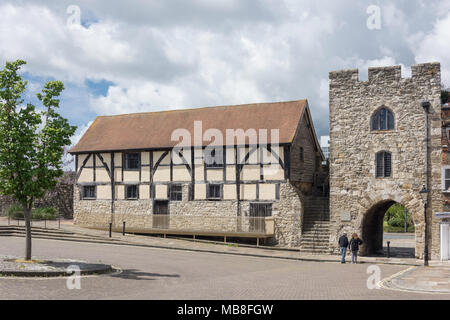 15th century Westgate Hall, Westgate Street, Old Town, Southampton, Hampshire, England, United Kingdom - Stock Photo