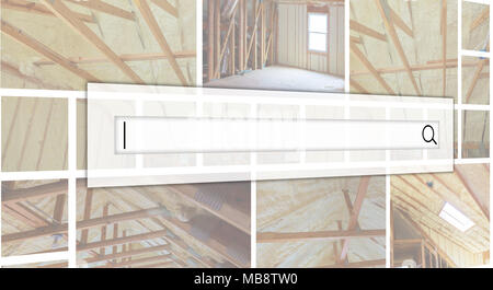 thermal and hidro insulation Inside wall insulation Interior view construction new residential home. photo collage The concept of service for dating - Stock Photo
