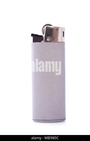 Grey lighter isolated on a white background - Stock Photo