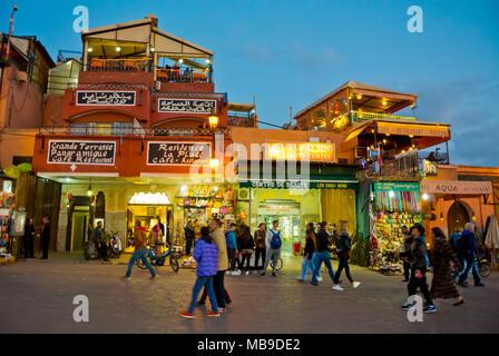 Jamaa el Fna, Marrakesh, Morocco, northern Africa - Stock Photo