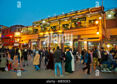 Cafe de France, Jamaa el Fna, Medina, Marrakesh, Morocco, northern Africa - Stock Photo