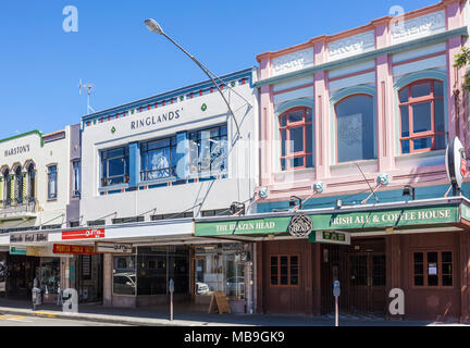 new zealand napier new zealand the art deco architecture of Napier town centre hastings street facades napier new zealand north island nz - Stock Photo